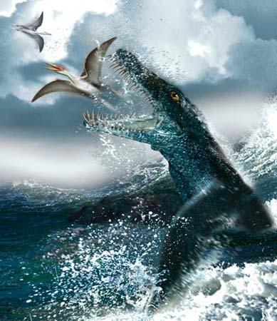 """史前海洋动物牙齿巨大,撕咬力惊人 堪称""""海洋暴龙"""""""